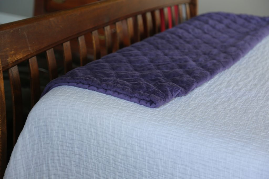 End of the bed throw blanket
