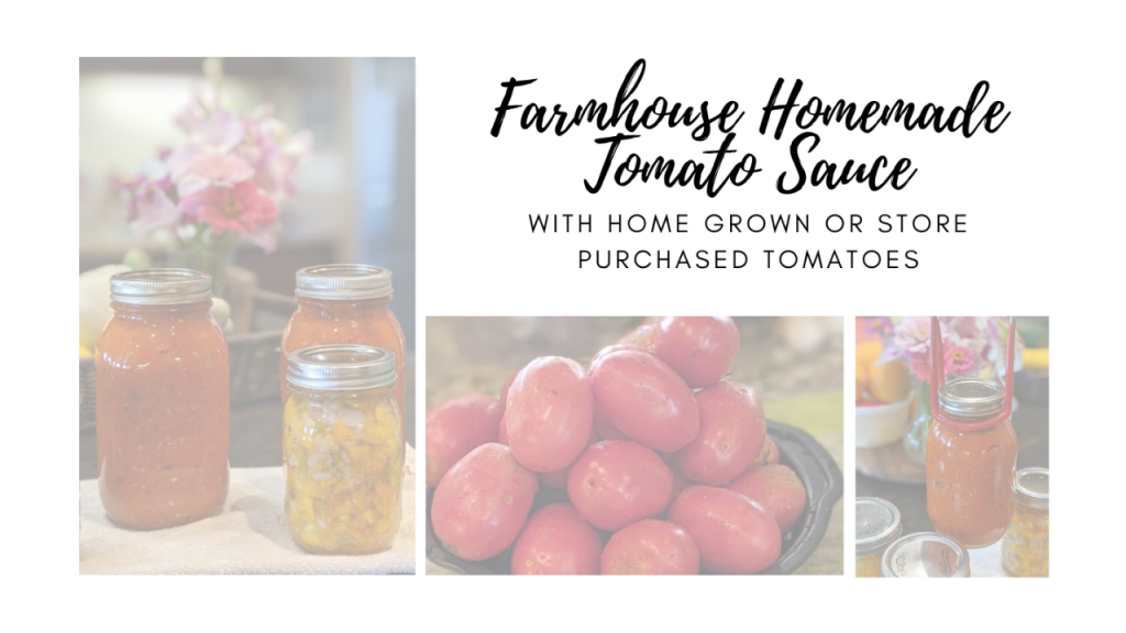 farmhouse homemade tomato sauce