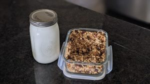 granola with homemade yogurt